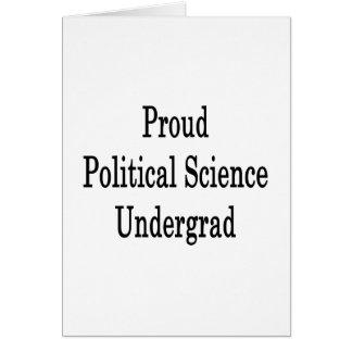 Proud Political Science Undergrad Card
