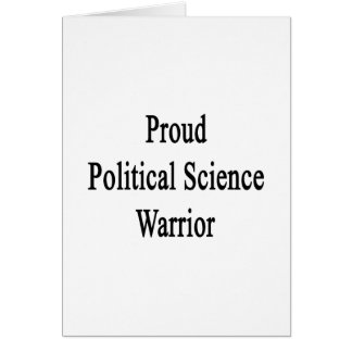 Proud Political Science Warrior Cards