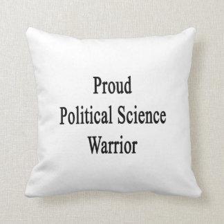 Proud Political Science Warrior Cushion