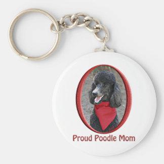 Proud Poodle Mom Key Ring