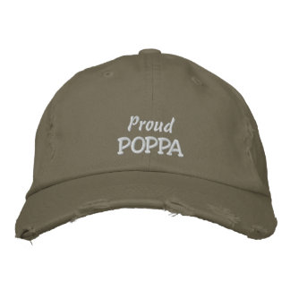 Proud POPPA-Father's Day OR Birthday Baseball Cap