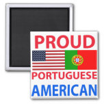 Proud Portuguese American Refrigerator Magnet