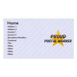 Proud Postal Worker Business Card