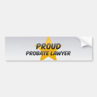 Proud Probate Lawyer Bumper Sticker