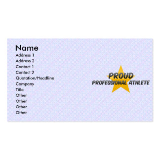 Proud Professional Athlete Business Cards