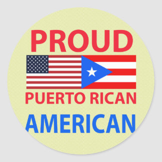 Proud Puerto Rican American Classic Round Sticker