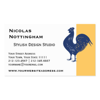 Proud Purple Rooster Business Card Template