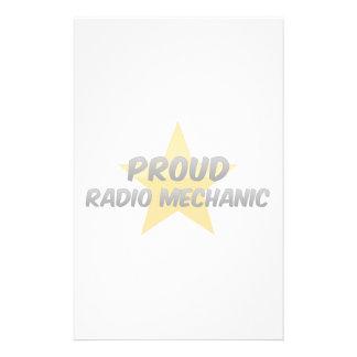 Proud Radio Mechanic Customized Stationery