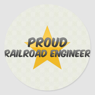 Proud Railroad Engineer Stickers