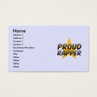 Proud Rapper Business Card