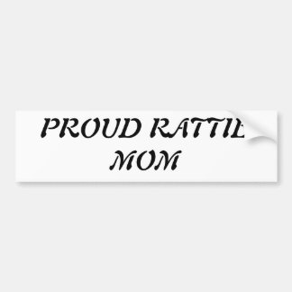 proud rattie mom bumper sticker