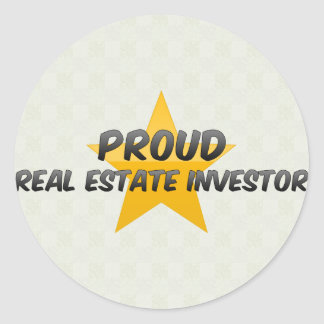 Proud Real Estate Investor Round Sticker