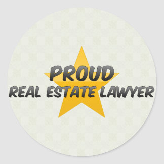 Proud Real Estate Lawyer Round Stickers