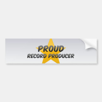 Proud Record Producer Bumper Stickers