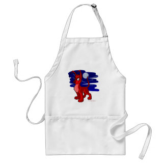 Proud red Gelert by moonlight Standard Apron