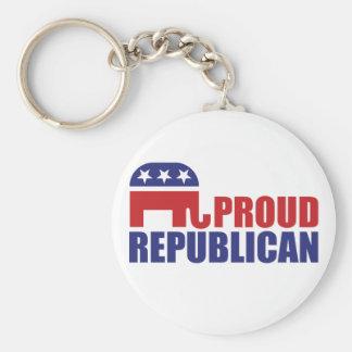 Proud Republican Elephant Key Ring