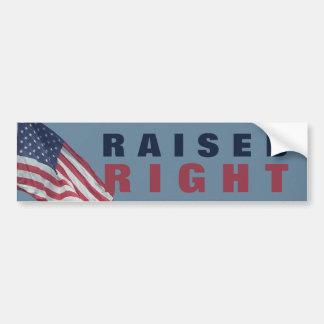 Proud Republican Raised Right | Funny Political Bumper Sticker