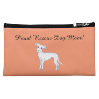 Proud Rescue Dog mom! Makeup Bag