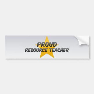 Proud Resource Teacher Bumper Stickers