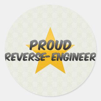 Proud Reverse-Engineer Round Sticker