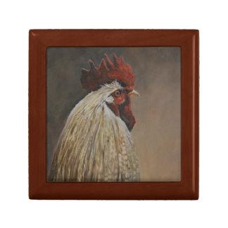Proud Rooster Bird Art Gift Trinket Box