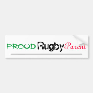 proud rugby parent bumper sticker