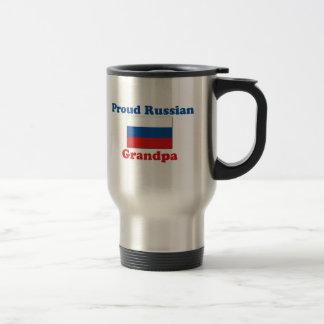 Proud Russian Grandpa Stainless Steel Travel Mug