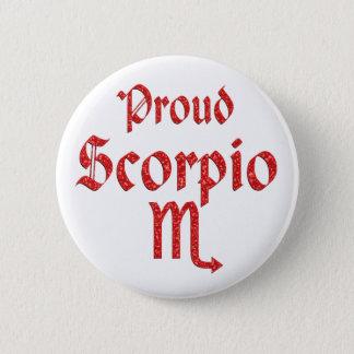 Proud Scorpio 6 Cm Round Badge