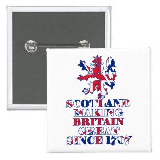 Proud Scottish and British 15 Cm Square Badge