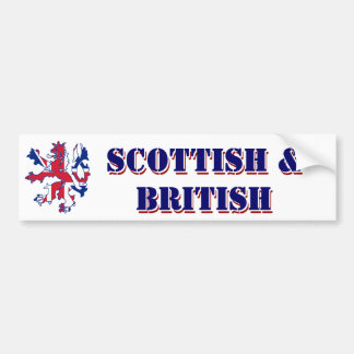Proud Scottish and British Bumper Sticker