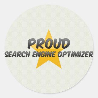 Proud Search Engine Optimizer Round Sticker