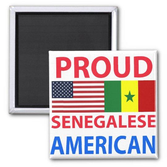 Proud Senegalese American Square Magnet