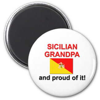 Proud Sicilian Grandpa Magnet