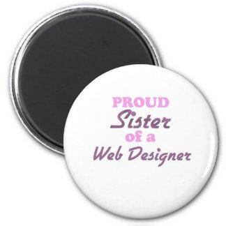 Proud Sister of a Web Designer Magnet
