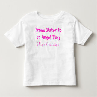 Proud Sister to an Angel Baby Tshirts