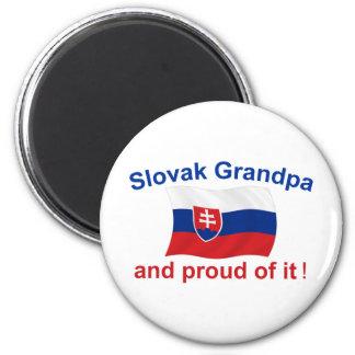 Proud Slovak Grandpa 6 Cm Round Magnet