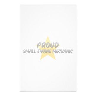 Proud Small Engine Mechanic Custom Stationery