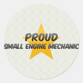 Proud Small Engine Mechanic Round Sticker