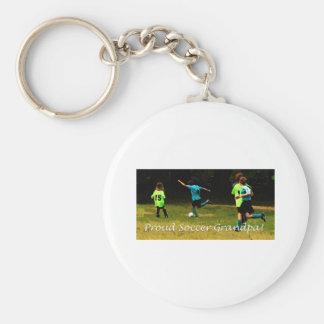 Proud Soccer Grandpa Key Chain