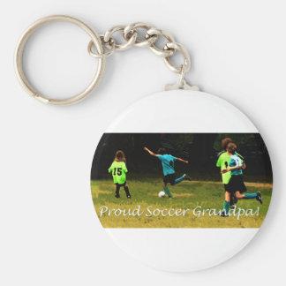 Proud Soccer Grandpa Keychain