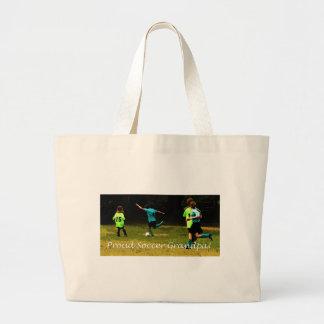 Proud Soccer Grandpa Tote Bags