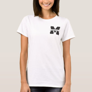 """Proud Soccer Mom in Blue with """"M"""" name T-Shirt"""