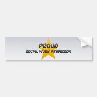 Proud Social Work Professor Bumper Stickers