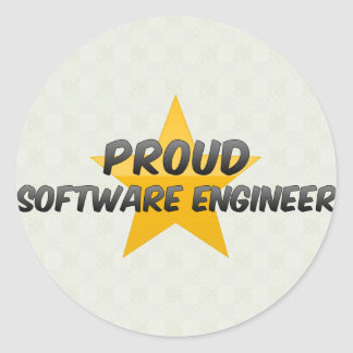 Proud Software Engineer Round Sticker
