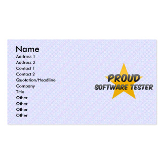 Proud Software Tester Pack Of Standard Business Cards