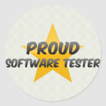 Proud Software Tester Classic Round Sticker