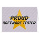 Proud Software Tester Greeting Card