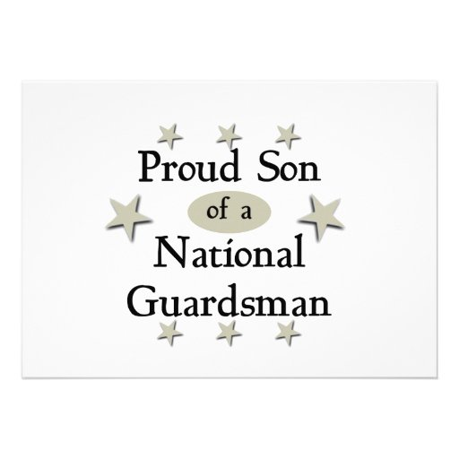 Proud Son of a National Guardsman Invitation