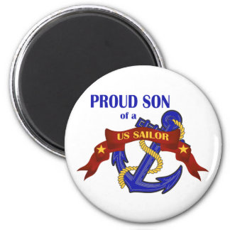 Proud Son of a US Sailor 6 Cm Round Magnet