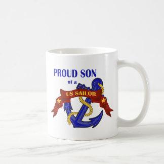 Proud Son of a US Sailor Basic White Mug